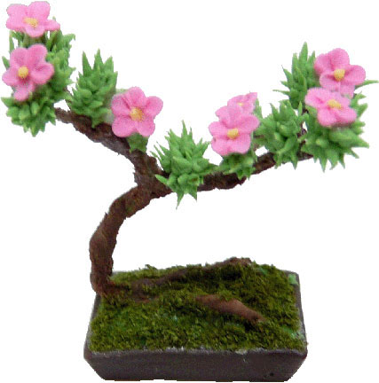 Bright deLights Bonsai Tree In Bloom 1:12
