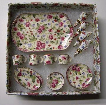 By Barb Rose Dinnerware Set 1:12 scale