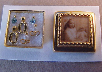 Half Scale Photo Box with Tiny Jewelry Miniature Handcrafted by Cheryl Warder 1:24 scale