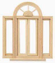 Houseworks Circlehead Double Casement Window 1:24 scale