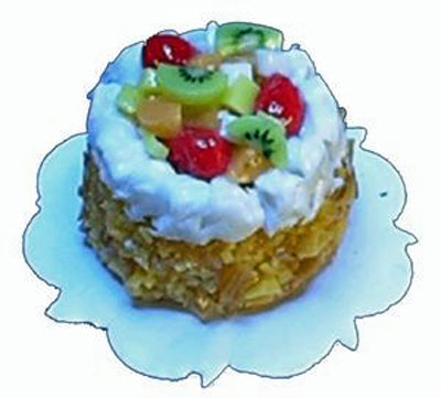 Bright deLights Fruit Cream Topped Cake 1:24