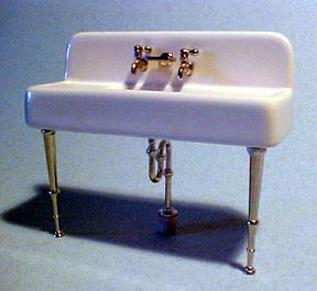 Old Time Porcelain Sink Dollhouse Miniature 1:12 scale
