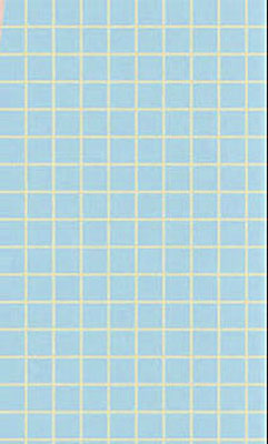 Small Blue Checked Tile Flooring 1:24 scale