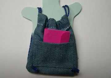 By Barb Child's Blue Denim Back Pack 1:12 scale