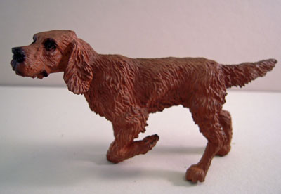 Pointing Irish Setter 1:12 scale