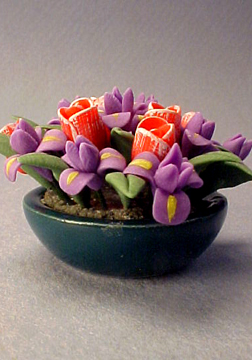 Bright deLights Tulips and Iris 1:12 scale