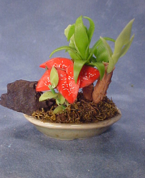 Bright deLights Palm Floral Planter 1:12 scale