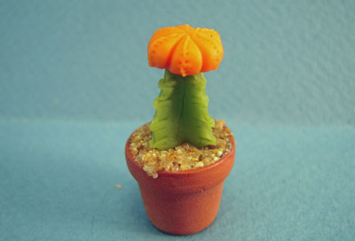 Bright deLights Potted Orange Moon Cactus 1:12 scale