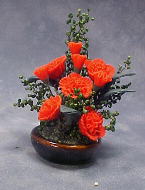 Bright deLights Carnation Planter 1:12 scale