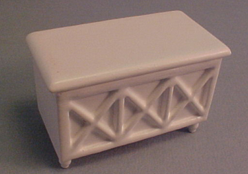 Dollhouse Miniature HALF SCALE 1:24 White Toy Box A242.5