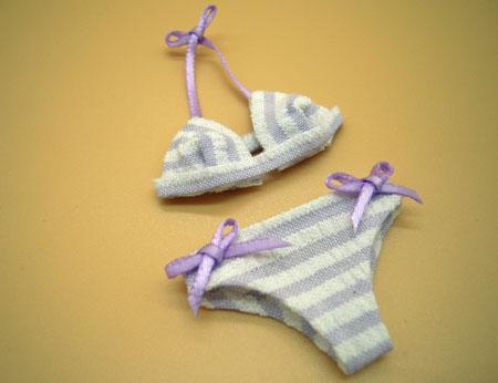 Falcon Lavender Striped Bikini 1:12 scale Miniature