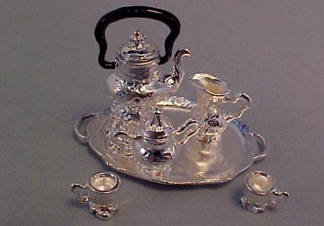 Silver Coffee Set 1:12 scale