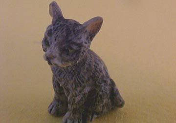 Gray Kitten 1:12 scale