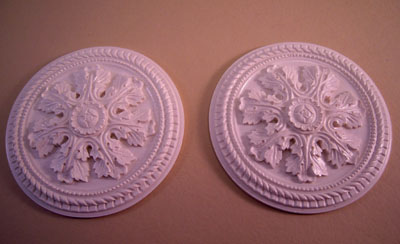Falcon Miniatures Miniature Set Of Two Layered Leaf Ceiling Medallions 1:12 scale