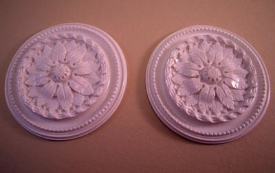 Falcon Miniatures Miniature Set Of Two Floral Ceiling Medallions 1:12 scale