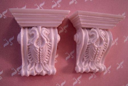 Falcon Miniatures Miniature Set Of Two Acanthus Brackets 1:12 scale