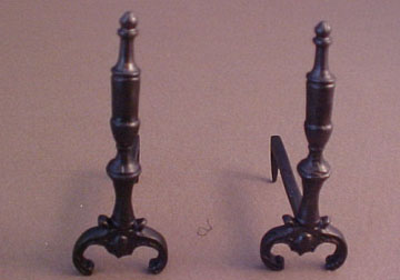Falcon Period Andirons 1:12 scale