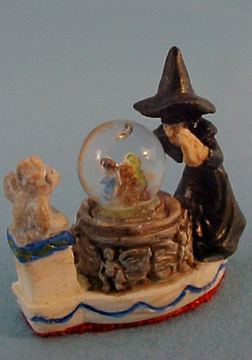 Falcon Witch Water Globe 1:12 scale