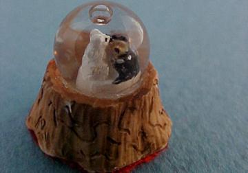 Falcon Wedding Bear Water Globe 1:12 scale