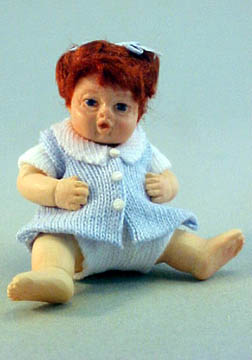 Falcon Baby Megan In Blue Doll 1:12 scale