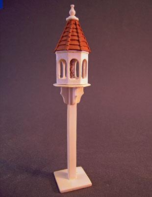 Freestanding Wooden Bird Feeder 1:12 scale