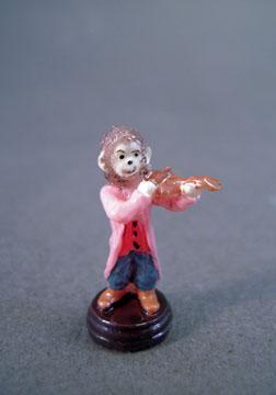 Falcon Monkey Violin Fiddler Statue 1:12 scale