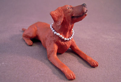 Brown Hound Dog 1:12 scale