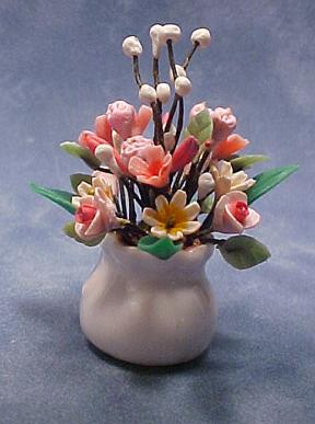 Falcon Pink Flower Arrangement 1:12 scale