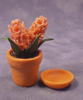 Falcon Hyacinths in Clay Pot 1:12 scale