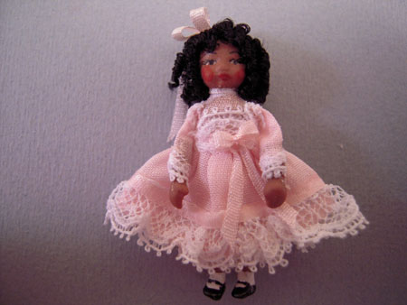 Ethel Hicks Angel Children Victorian Elly Doll In Pink 1:12 scale