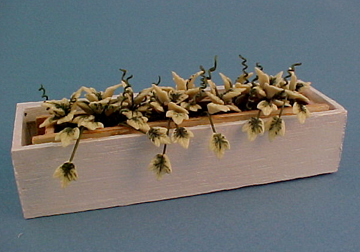 Bright deLights English Ivy In White Window Box 1:12 scale