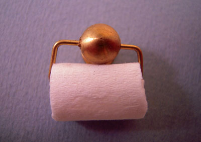 Miniscules Brass Toilet Paper Holder 1:12 scale