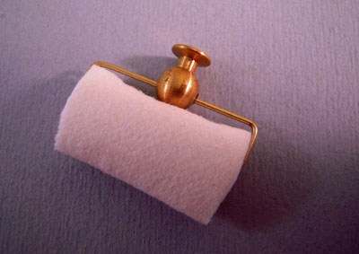 Miniscules Brass Paper Towel Holder 1:12 scale