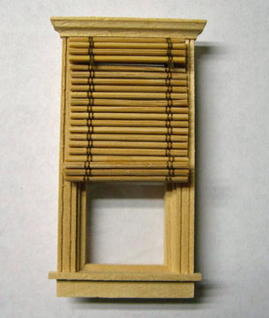 By Barb Non-Working Bamboo Window Shade 1:24 scale