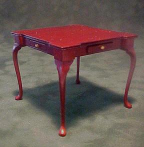 Bespaq Mahogany Game Table 1:12 scale