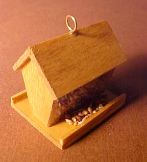 Wooden Bird Feeder 1:12 scale
