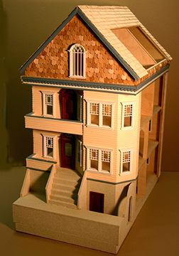 Majestic Mansions Buckhead Townhouse Assembled Shell 1:24 scale