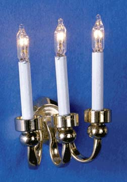 Three Candle Wall Sconce 1:12 scale