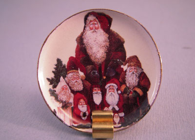 & By Barb Victorian Santas Decorative Christmas Plate 1:12 scale