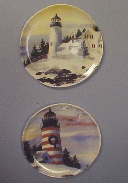 By Barb Decorative Lighthouse Plates 1:12 scale