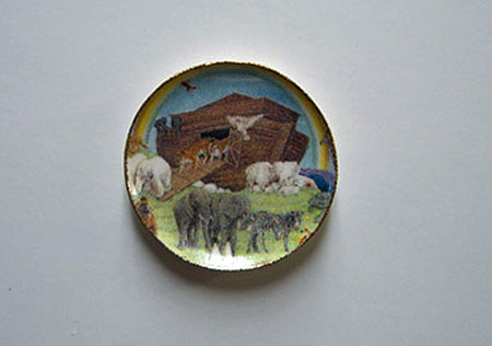 By Barb Noah's Ark Decorative Plate 1:12 scale
