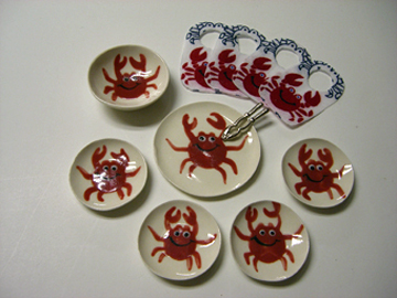 By Barb Crab Dinner Set 1:12 scale