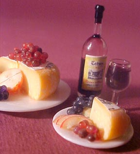 Cheese, Wine and Fruit For Two 1:12 scale