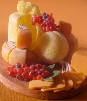 Cheese On A Board 1:12 scale