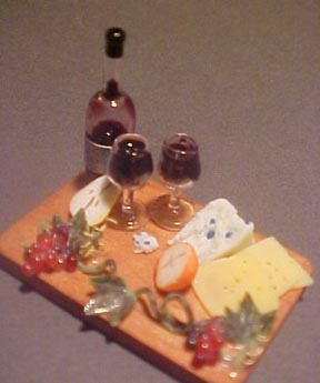 Cheese, Fruit and Wine 1:12 scale