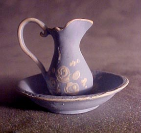 Painted Warwick China Ewer and Basin 1:12 scale