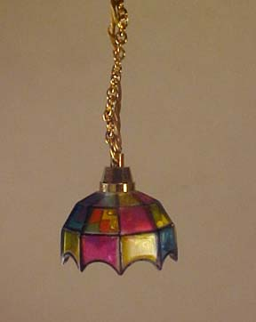 Cir-Kit Colored Tiffany Hanging Lamp 1:24 scale