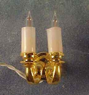Cir-Kit Double Candle Wall Sconce 1:24 scale