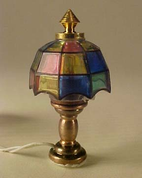 Cir-Kit Colored Tiffany Table Lamp 1:24 scale