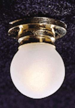 Round Frosted Ceiling Light 1:12 scale